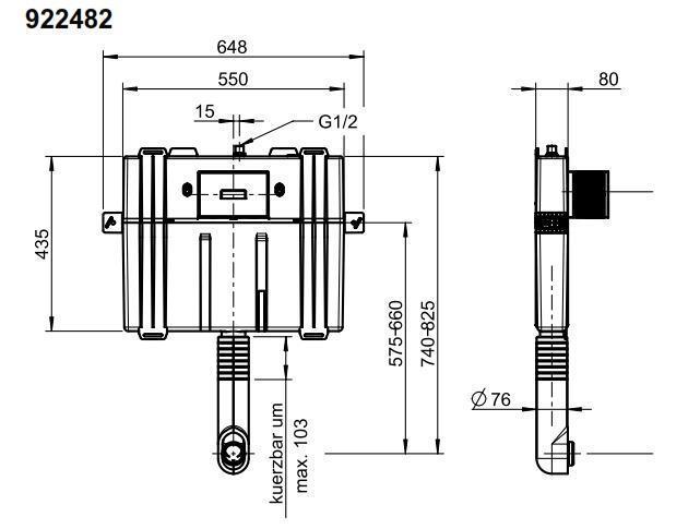 92248200 Viconnect Cisterna Oculta Empotrada Compacta