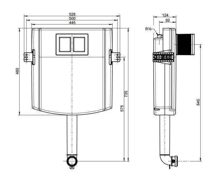 92248300 Viconnect Cisterna Oculta Empotrada 528x735x124 Mm